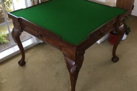 Antique mahjong/card table