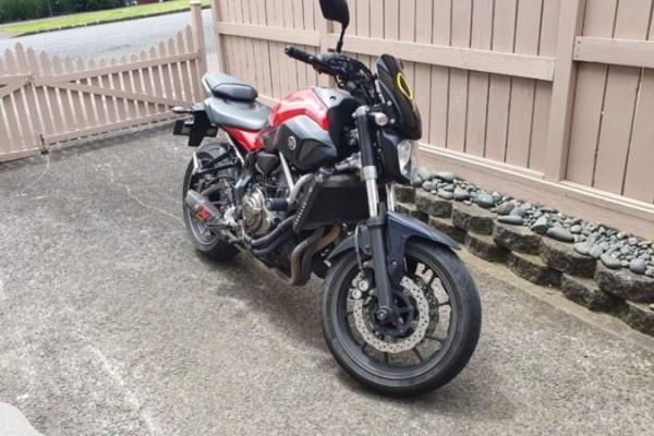 Motorcycle Yamaha mt07