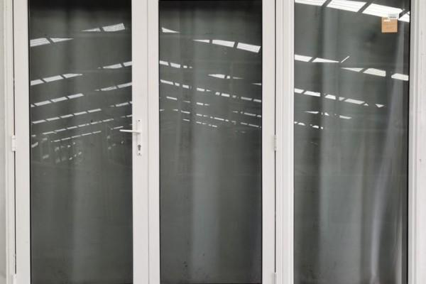Off White Aluminium French Doors H2005 x W2410 DR5092