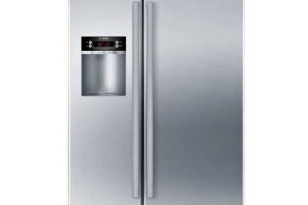 Side-by-side fridge freezer