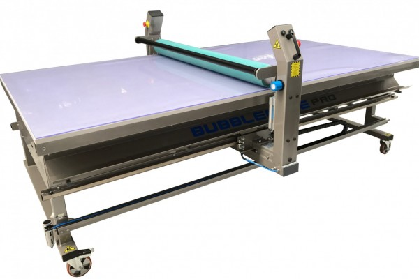 Glass Top Signage application Table