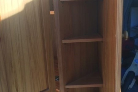 Solid Rimu corner entertainment unit