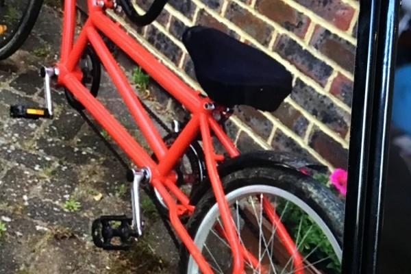 Tandem tag along bike