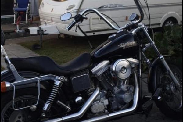 Motorcycle Harley Super Glide fed Dyna