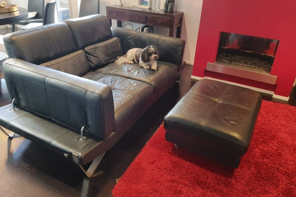2.5 seat sofa and seperate ottoman