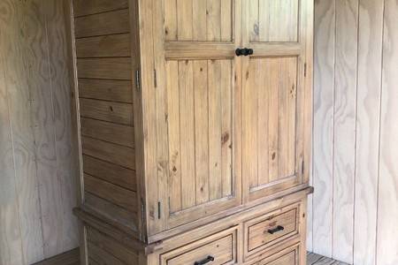 Cottage Hill Wooden Shelved Wardrobe