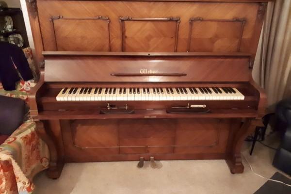 Weber Pianola Piano, plus a box of pionola rolls