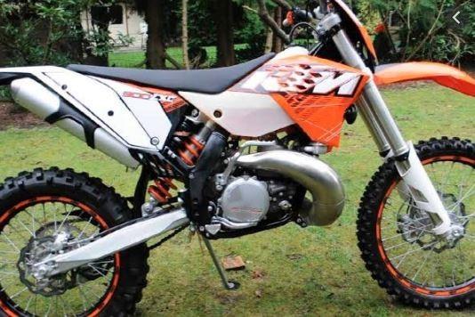 Motorcycle ktm 300 exc