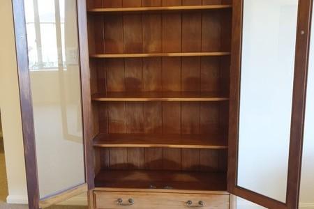 Two Door Davies Furniture Display Cabinet ref: 6403, Dresser & Mirror