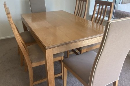 Dining Room Table & Chairs Solid Oak