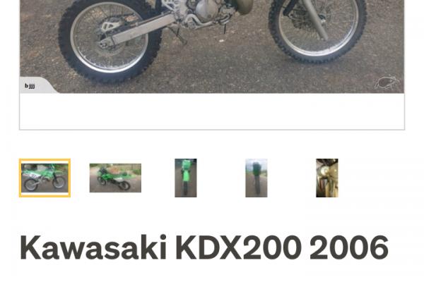 Motorcycle Kawasaki Kdx200